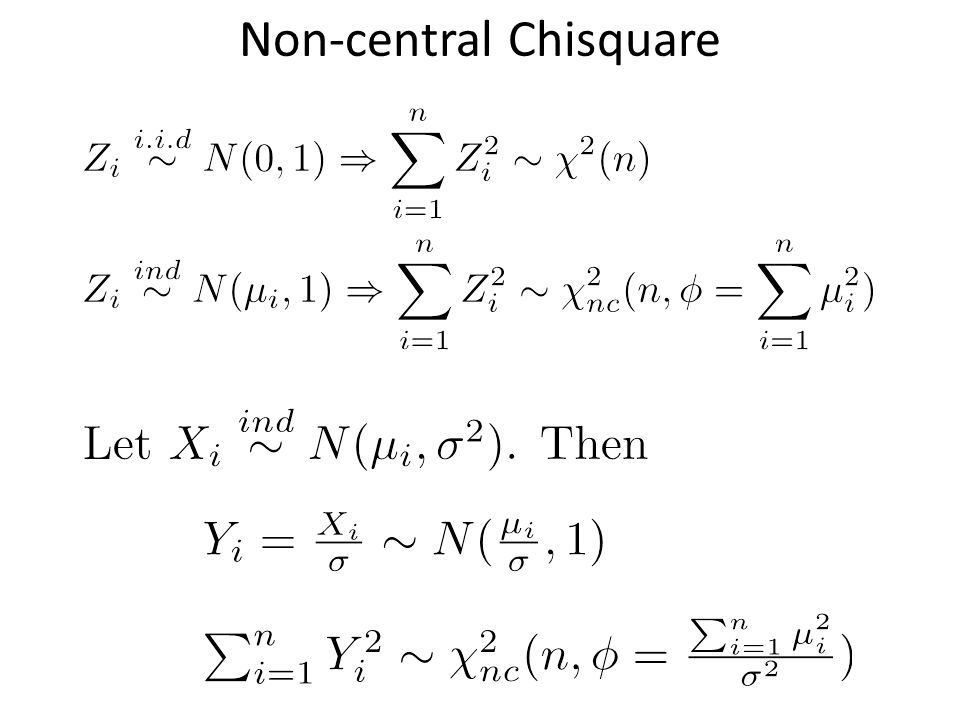 Non-central Chisquare