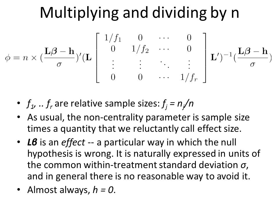 Multiplying and dividing by n f 1,..