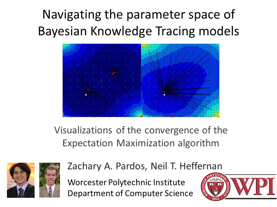 Navigating the parameter space of Bayesian Knowledge Tracing models Visualizations of the convergence of the Expectation Maximization algorithm Zachary A.