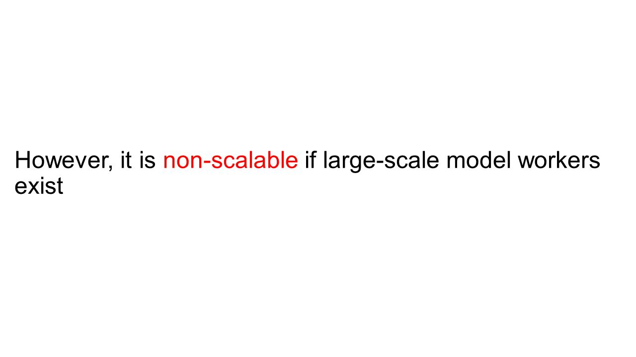 However, it is non-scalable if large-scale model workers exist