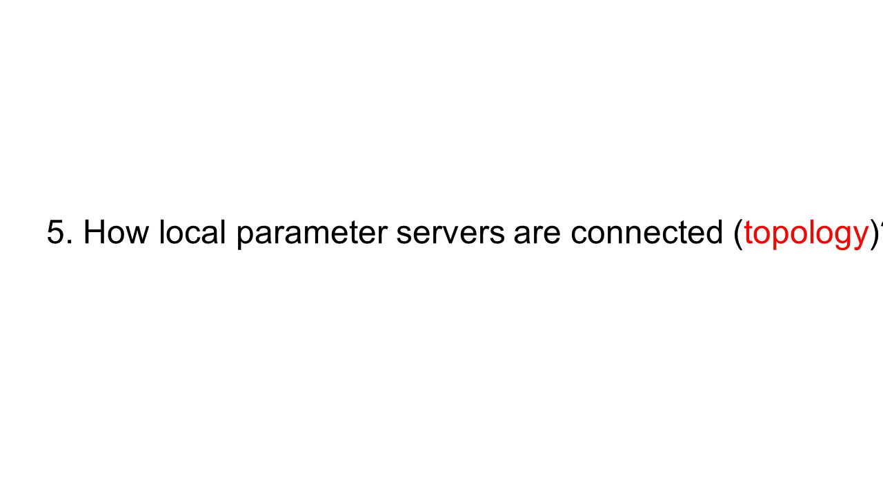 5. How local parameter servers are connected (topology)?