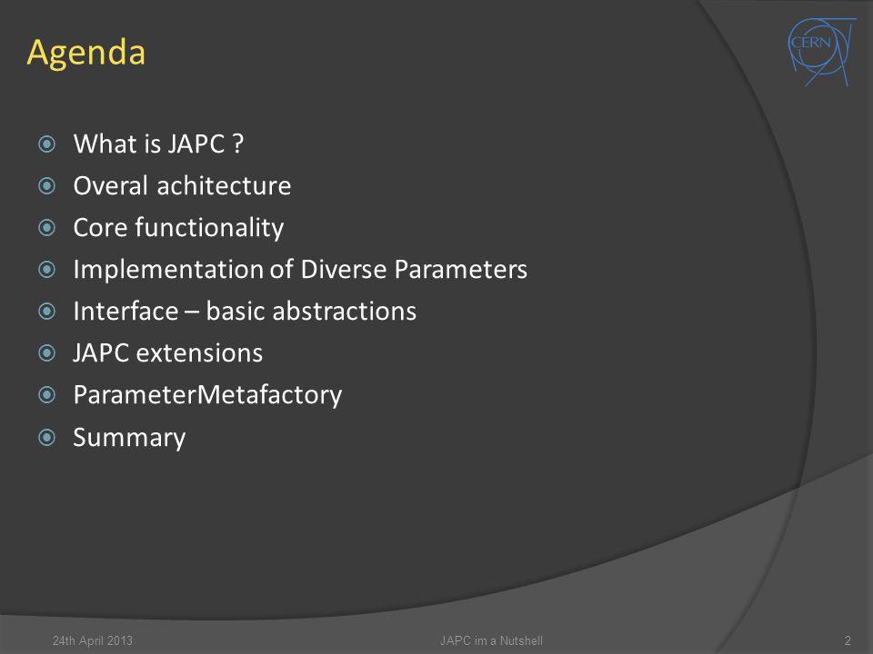 Agenda  What is JAPC .