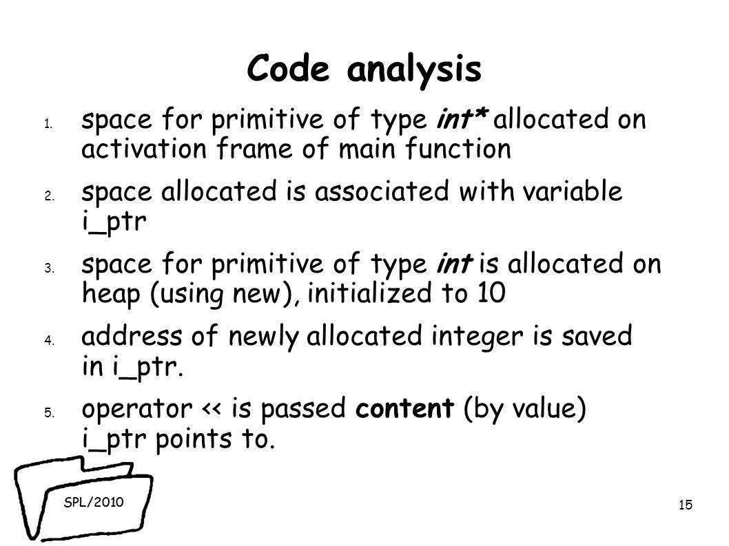 SPL/2010 Code analysis 1.