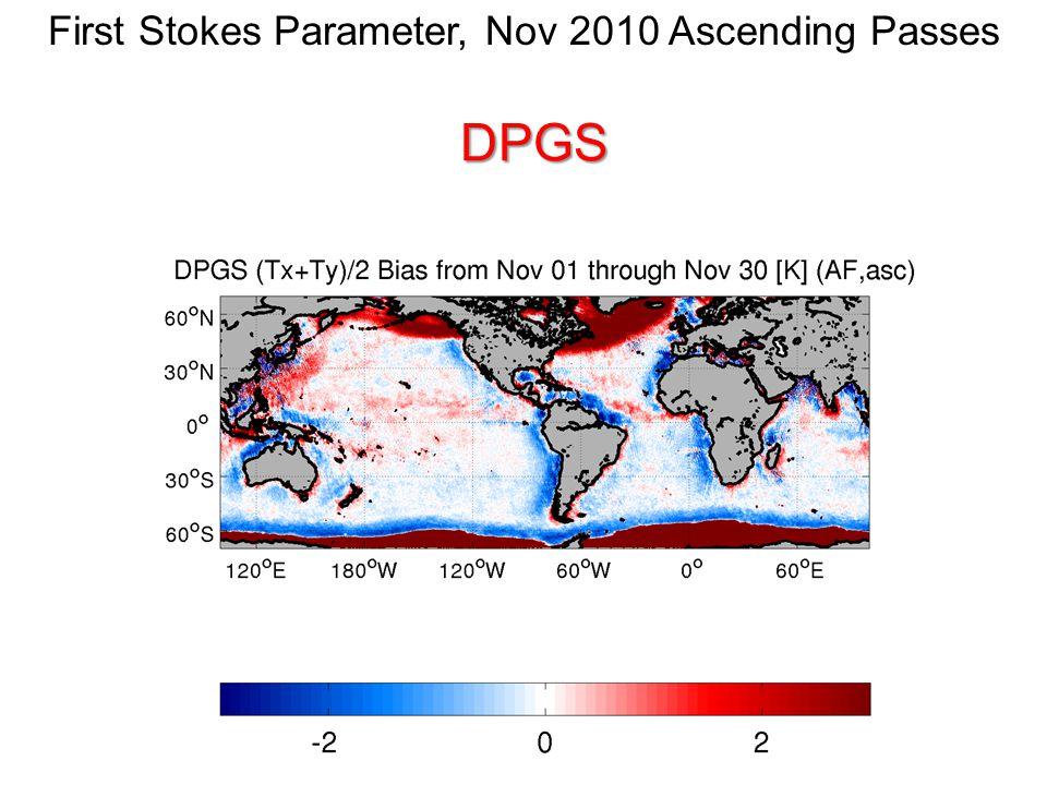 First Stokes Parameter, Nov 2010 Ascending PassesDPGS
