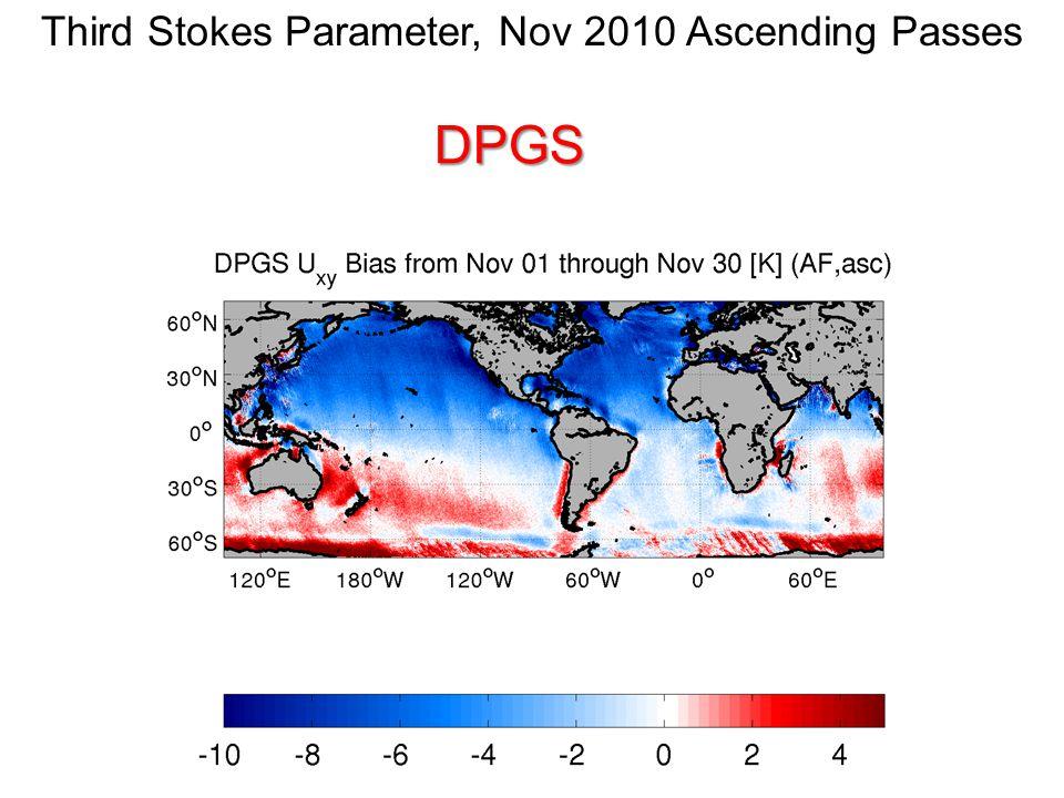 Third Stokes Parameter, Nov 2010 Ascending PassesDPGS