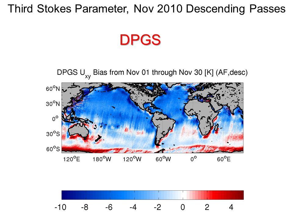 Third Stokes Parameter, Nov 2010 Descending PassesDPGS