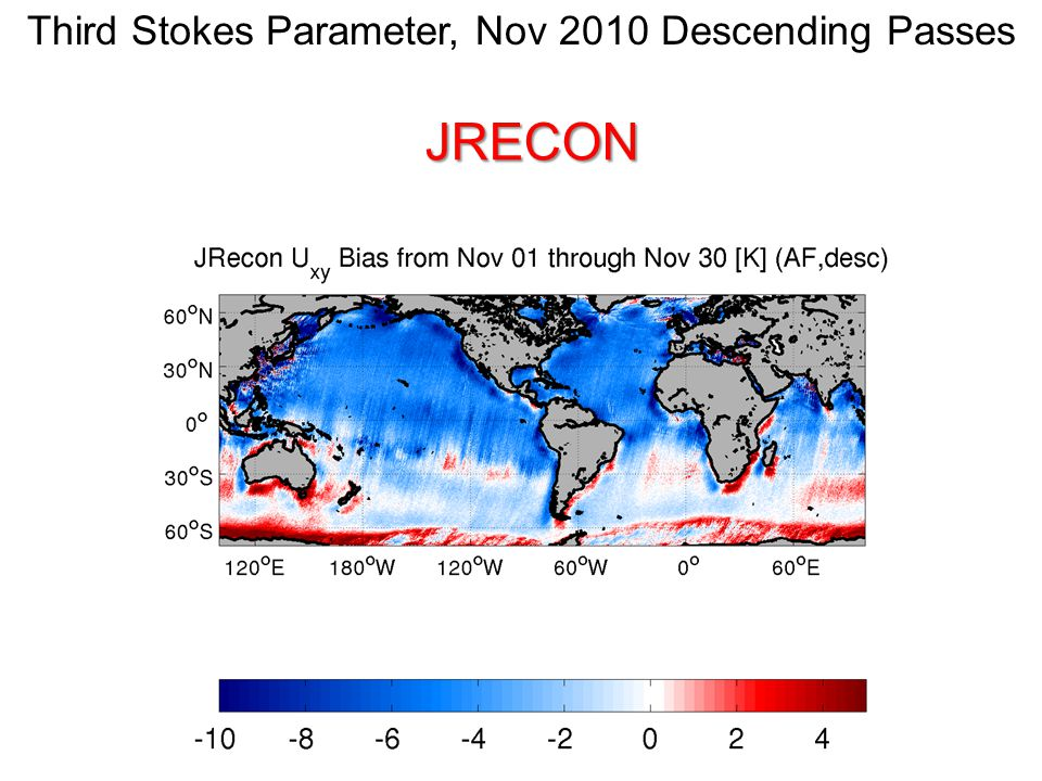 DPGS-JRECON Differences in the third Stokes parameter are small and noisy and are probably related to differences in the way snapshots are combined.