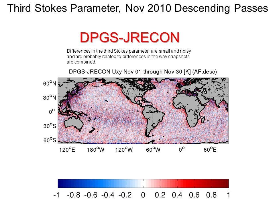 Fourth Stokes Parameter, Nov 2010 Ascending PassesDPGS