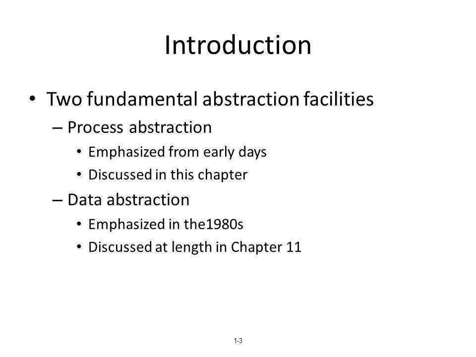 1-14 Models of Parameter Passing
