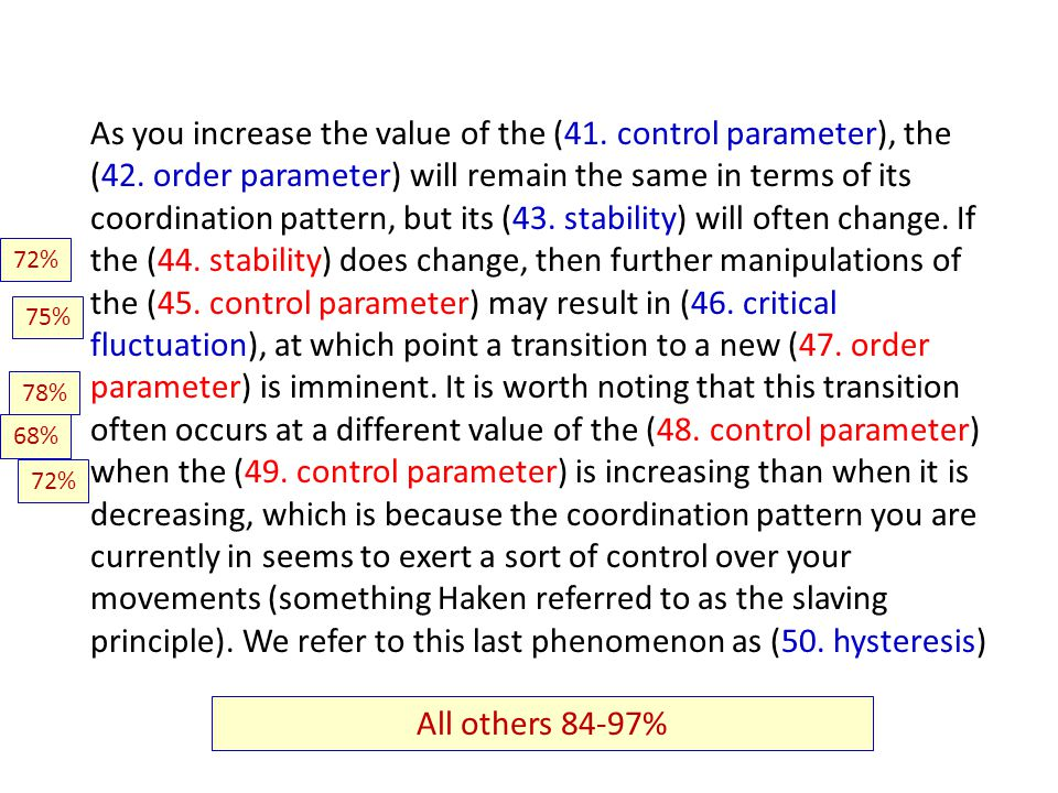 As you increase the value of the (41. control parameter), the (42.