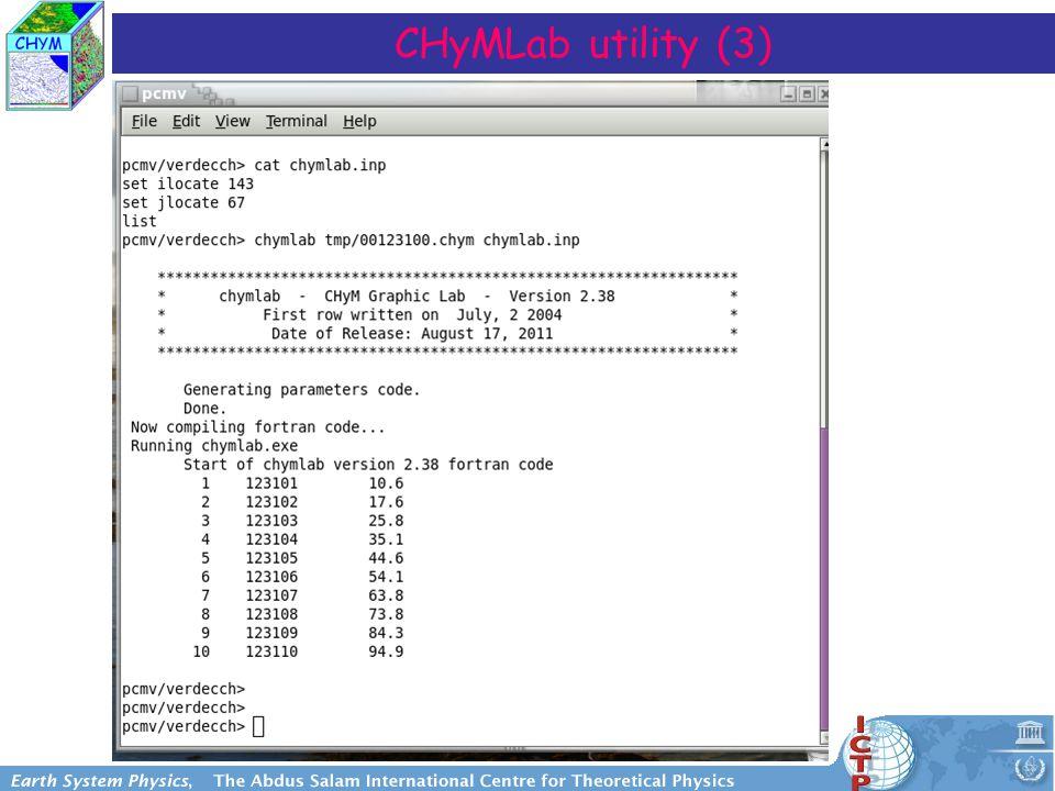 CHyMLab utility (3)