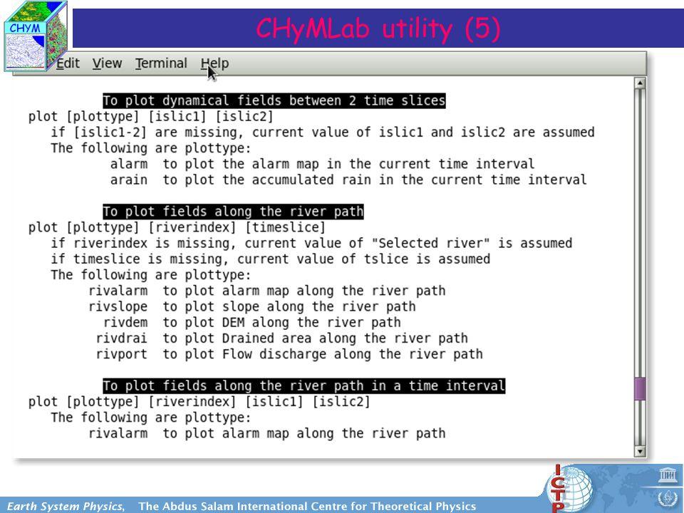 CHyMLab utility (5)