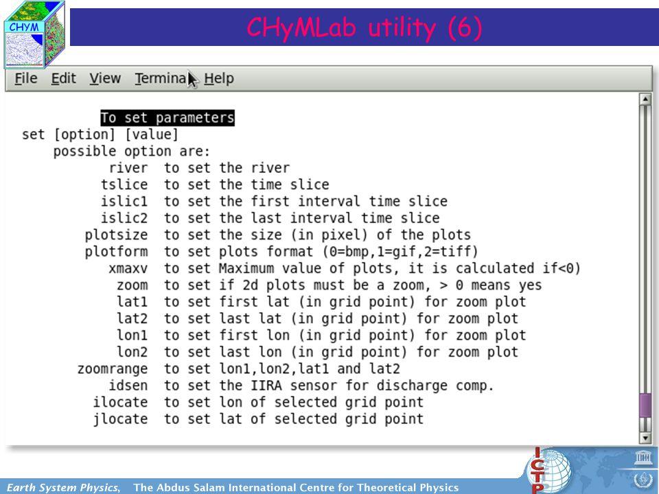 CHyMLab utility (6)