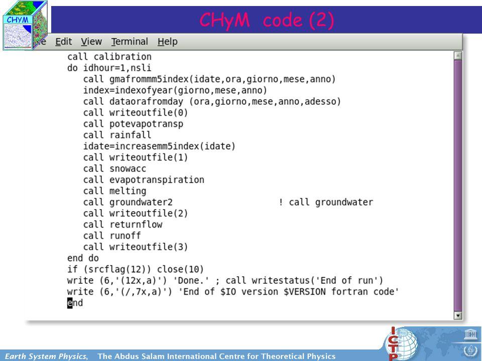 CHyM code (2)