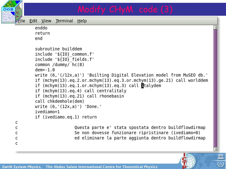 Modify CHyM code (3)