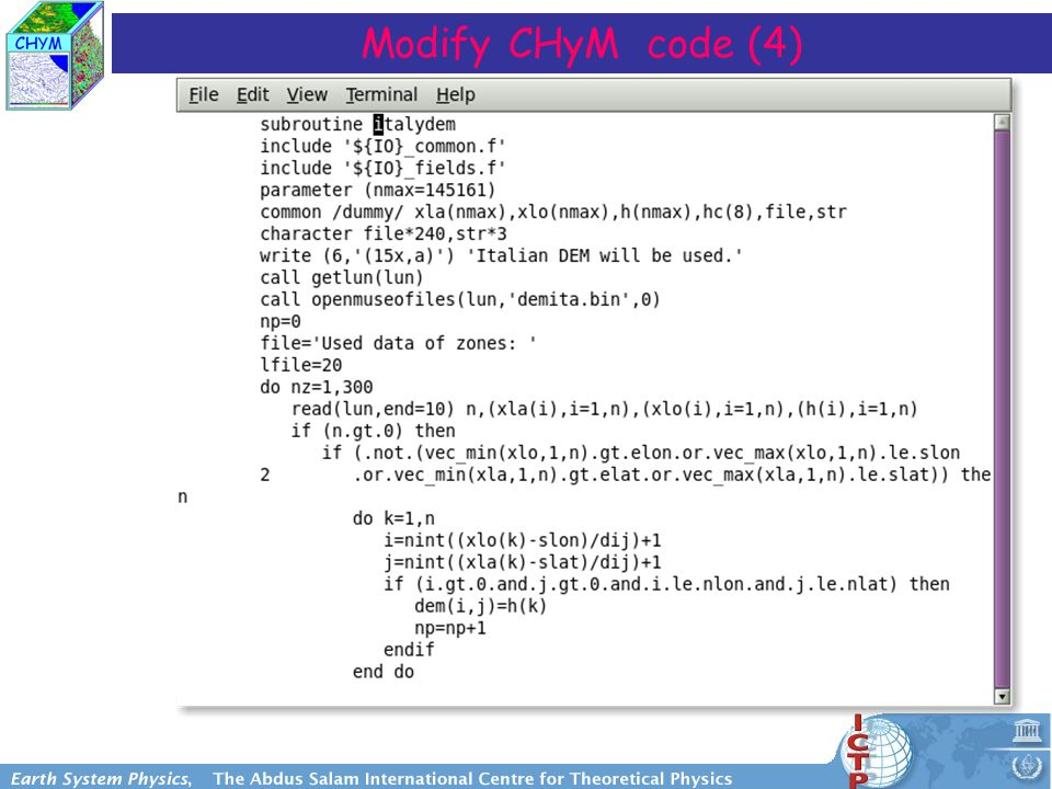Modify CHyM code (4)