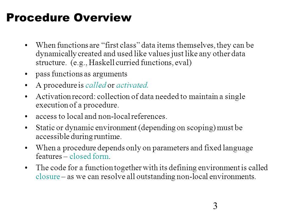 4 Implementing Simple Subprograms Caller responsibilities 1.