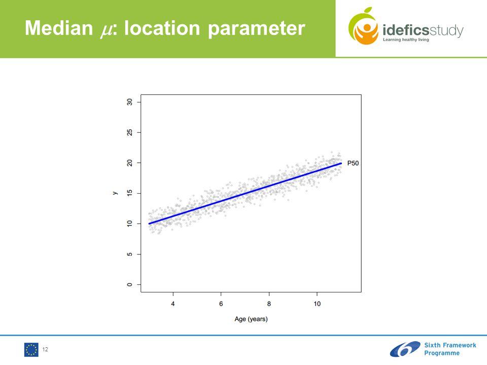 12 Median  : location parameter