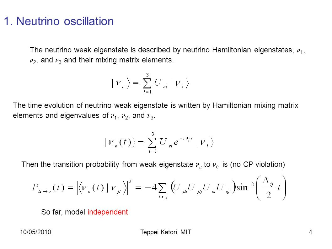 10/05/2010Teppei Katori, MIT3 1. Introduction 2. Neutrino beam 3. Events in the detector 4. Cross section model 5. Oscillation analysis and result 6.