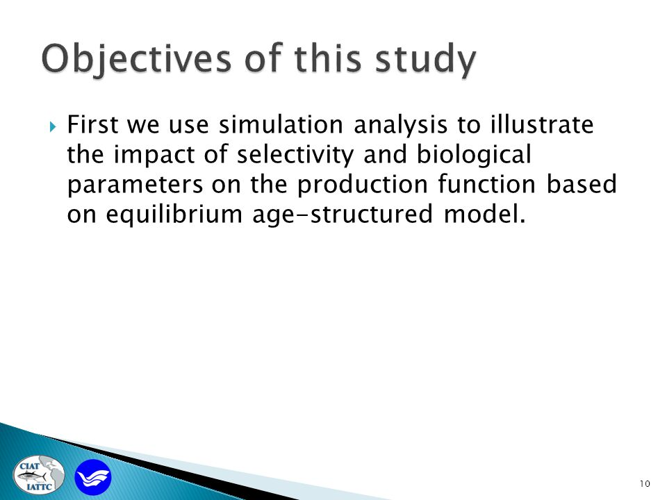  First we use simulation analysis to illustrate the impact of selectivity and biological parameters on the production function based on equilibrium age-structured model.