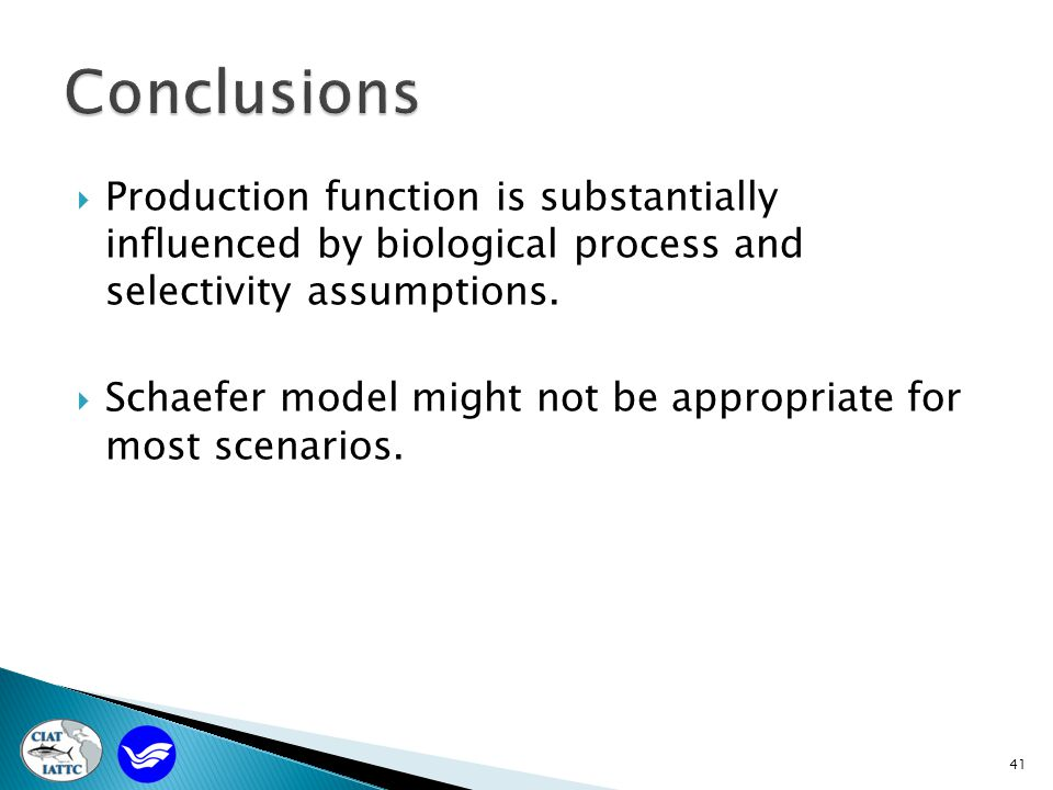 41  Production function is substantially influenced by biological process and selectivity assumptions.