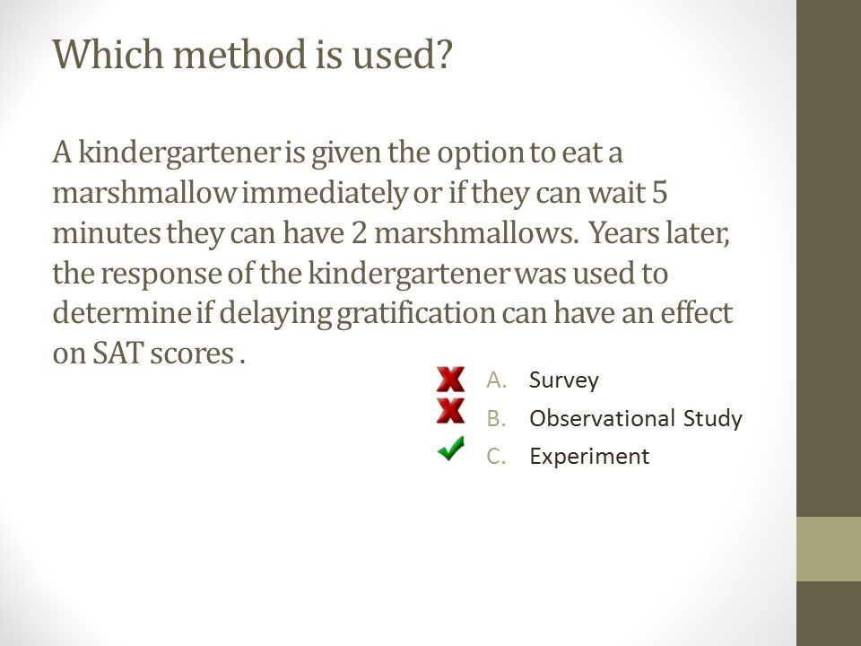 Which method is used.
