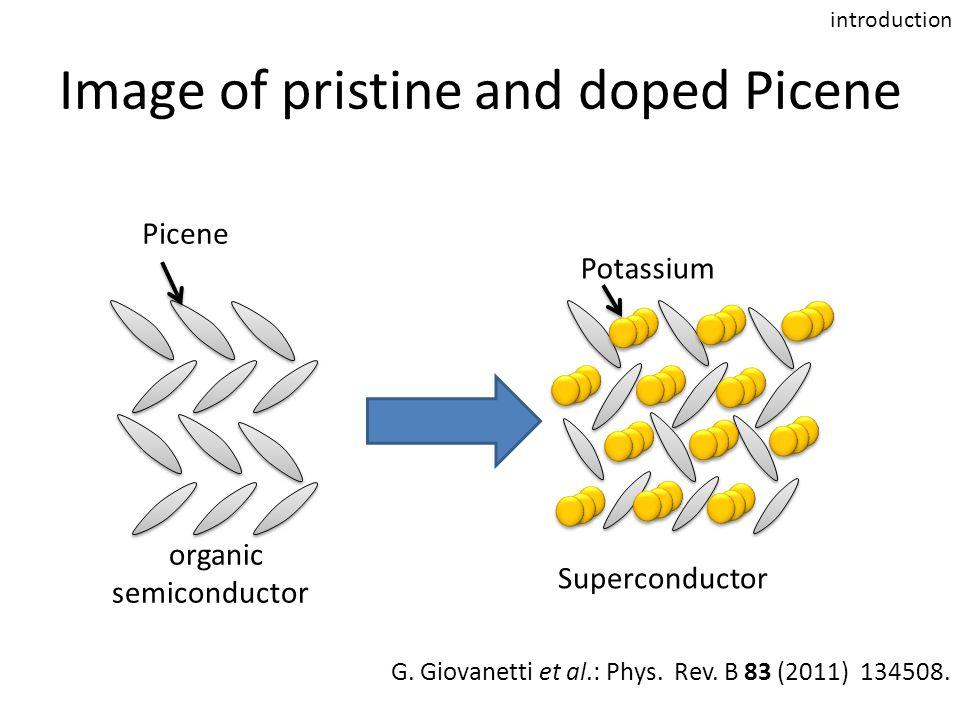 Image of pristine and doped Picene organic semiconductor Superconductor Potassium Picene G.