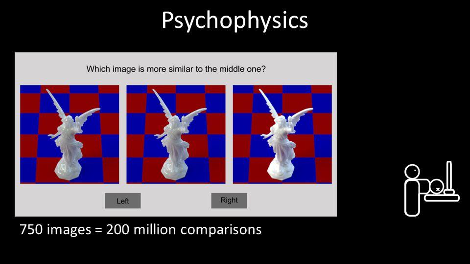 Psychophysics 750 images = 200 million comparisons 18