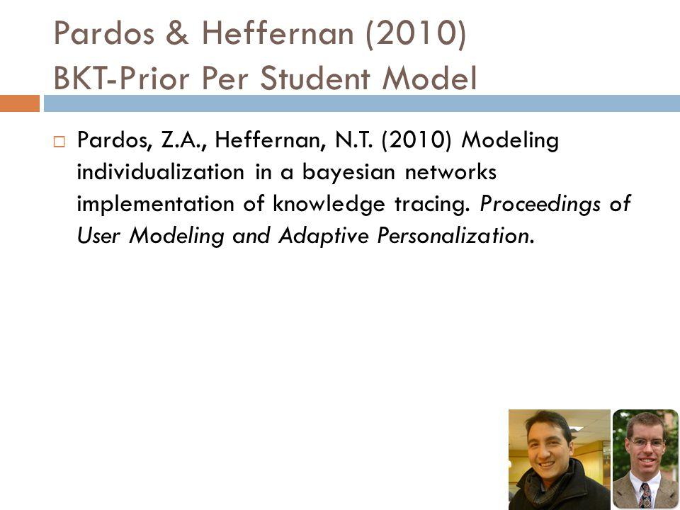 Pardos & Heffernan (2010) BKT-Prior Per Student Model  Pardos, Z.A., Heffernan, N.T.