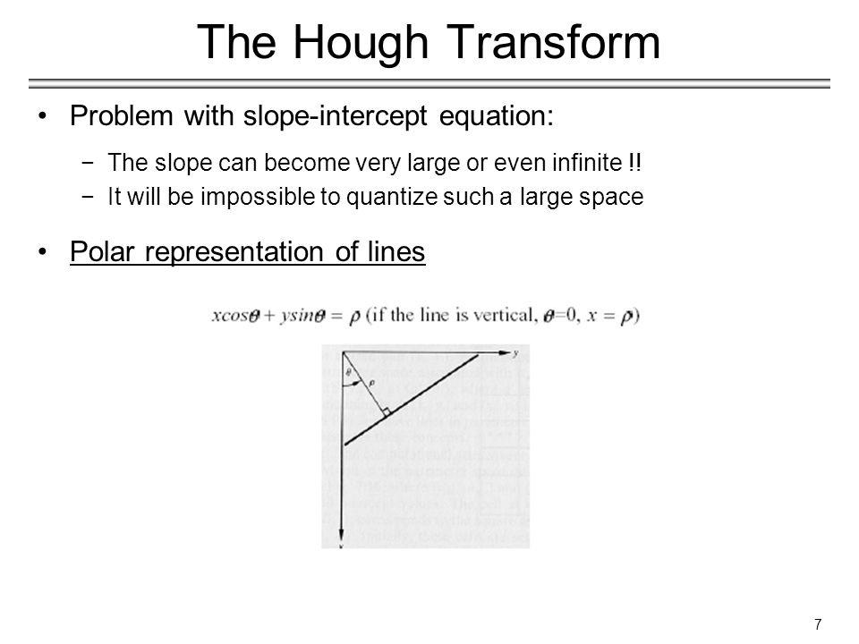 18 The Generalized Hough Transform Algorithm −(general case)