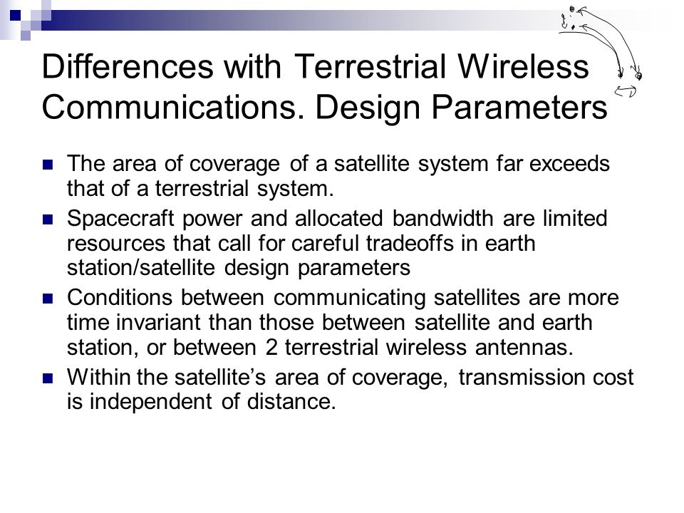 Differences with Terrestrial Wireless Communications.