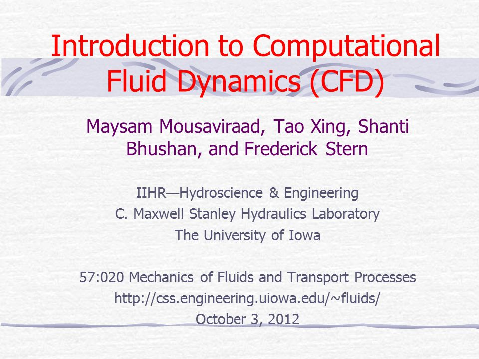 12 Modeling (flow conditions) Based on the physics of the fluids phenomena, CFD can be distinguished into different categories using different criteria Viscous vs.