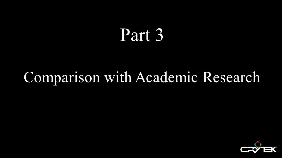 Part 3 Comparison with Academic Research