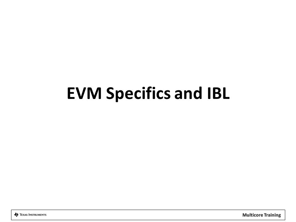 EVM Specifics and IBL