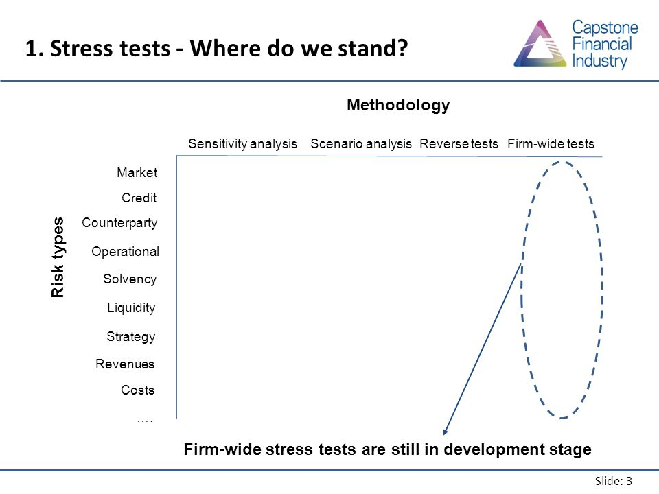 Slide: 3 1. Stress tests - Where do we stand.