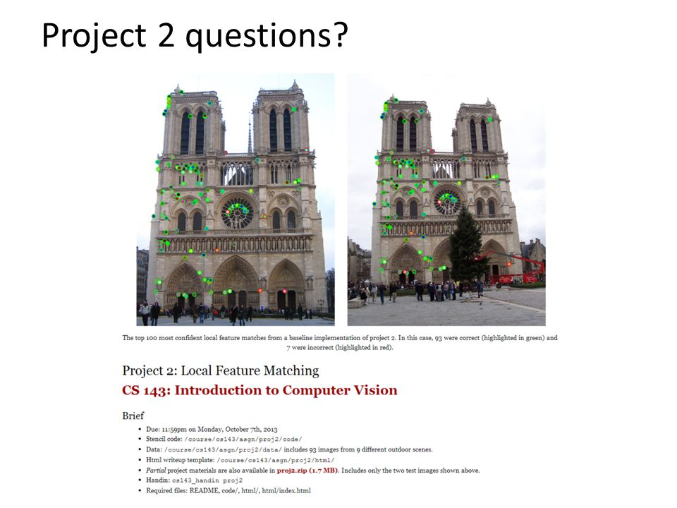 Project 2 questions
