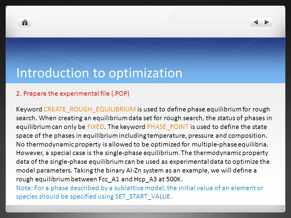 Introduction to optimization 2.