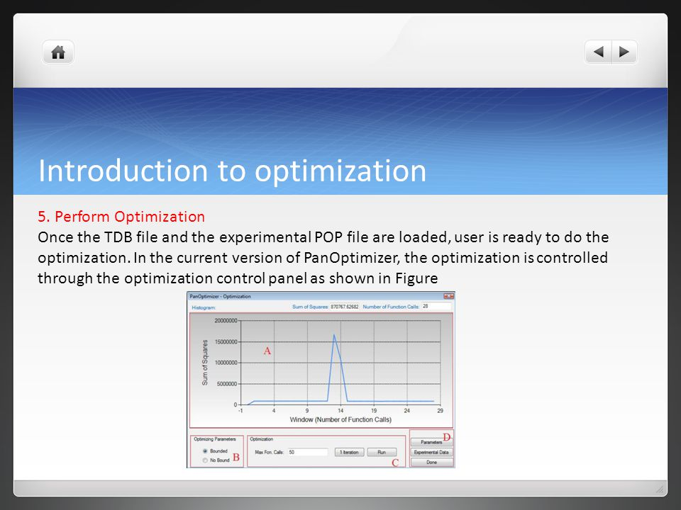 Introduction to optimization 5.