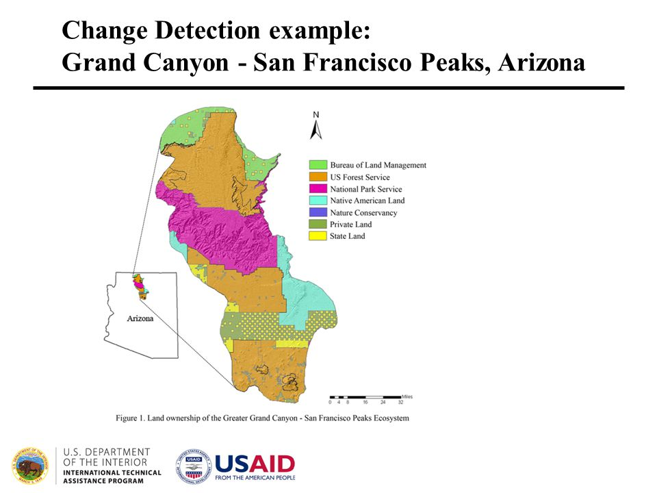 Change Detection example: Grand Canyon - San Francisco Peaks, Arizona