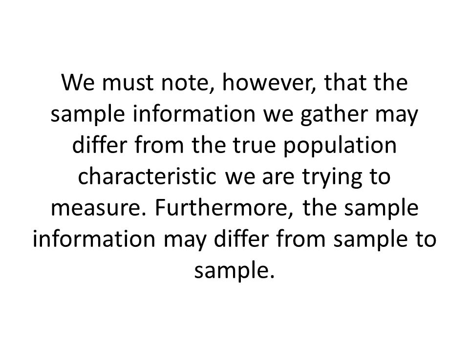 This sample-to-sample variability, called ____________________________ poses a problem when we try to generalize our findings to the population.