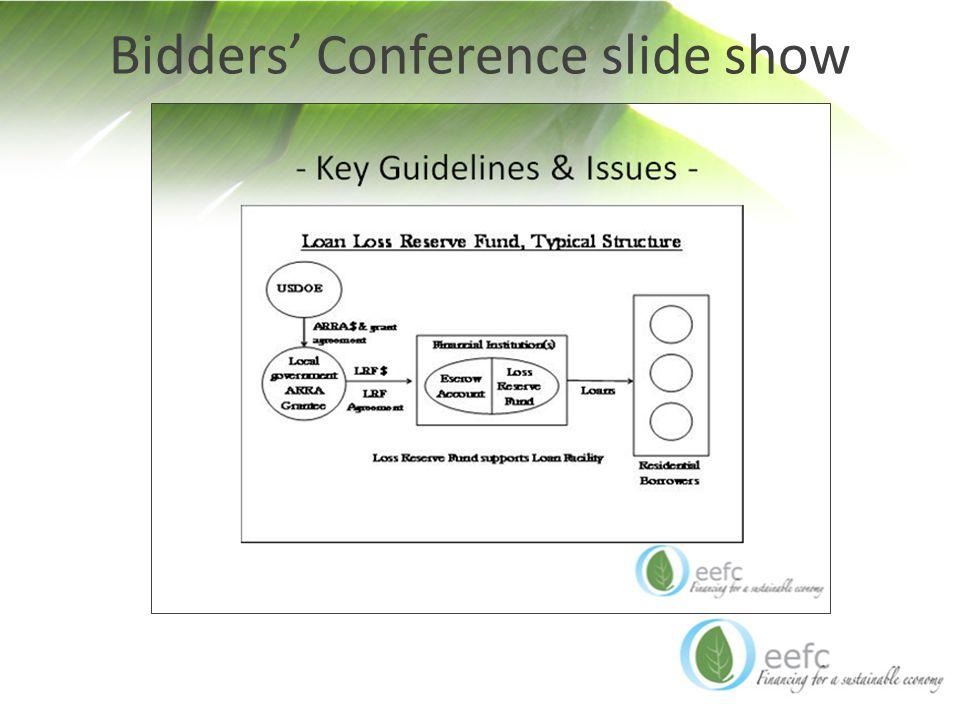 Bidders' Conference slide show