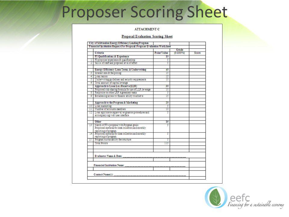 Proposer Scoring Sheet