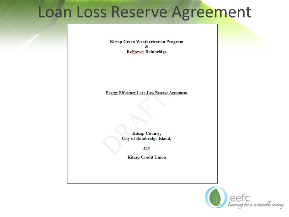 Loan Loss Reserve Agreement