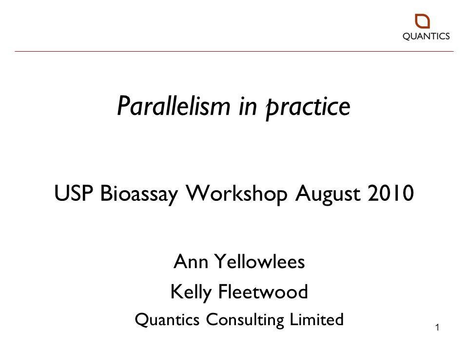 22 Data set 1: USP methodology Upper asymptote: