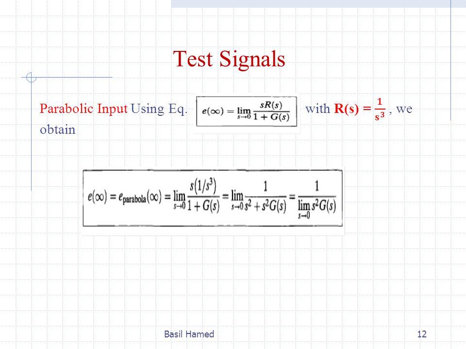 Test Signals Basil Hamed12