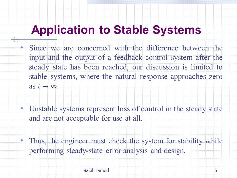 SS Error for Unit Step Input Basil Hamed6