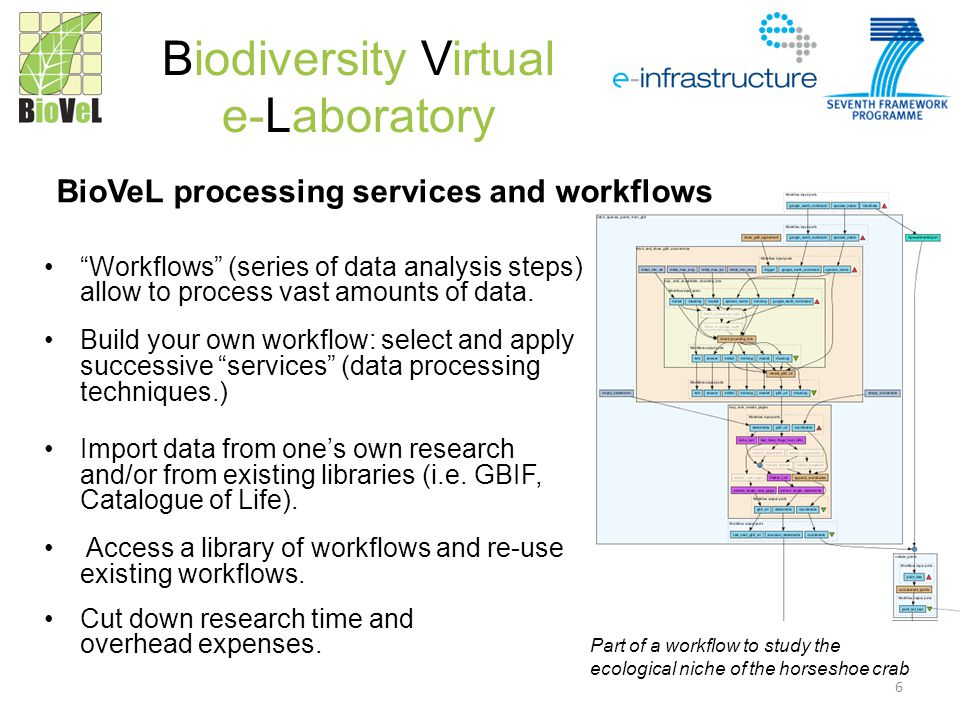 Workflows (series of data analysis steps) allow to process vast amounts of data.
