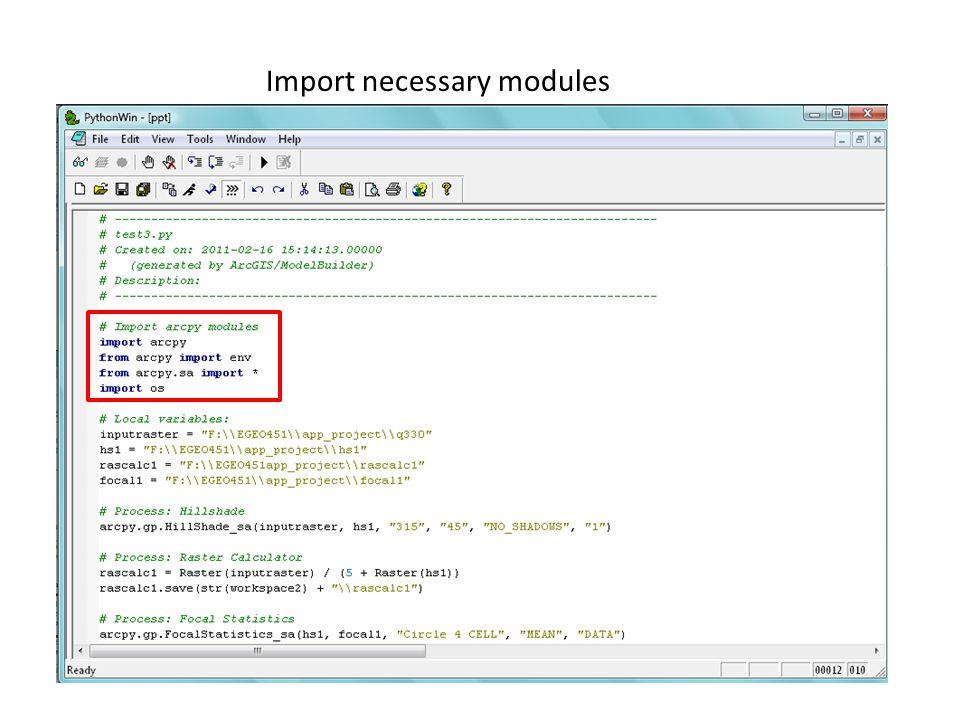 Import necessary modules