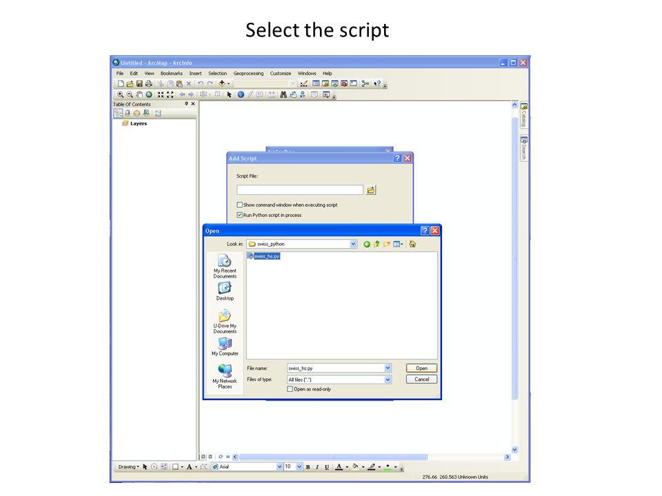 Select the script