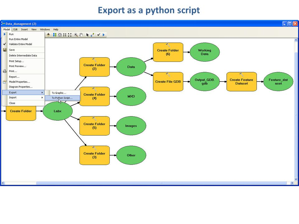 Export as a python script